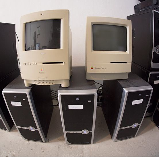 Computers around the studio